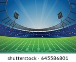 american football field with... | Shutterstock .eps vector #645586801