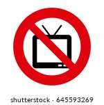 forbidden signal tv | Shutterstock .eps vector #645593269
