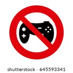 forbidden signal video game | Shutterstock .eps vector #645593341