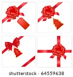 big set with red bows with... | Shutterstock .eps vector #64559638