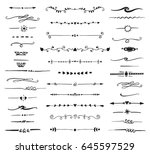 vector collection of hand drawn ... | Shutterstock .eps vector #645597529