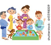 festival family   Shutterstock .eps vector #645598009