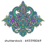 vector pattern of henna floral...   Shutterstock .eps vector #645598069