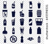 soda icons set. set of 25 soda... | Shutterstock .eps vector #645598531