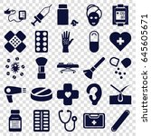 treatment icons set. set of 25... | Shutterstock .eps vector #645605671
