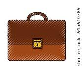 portfolio briefcase isolated...
