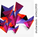 3d triangles and pyramids ... | Shutterstock . vector #645612955