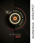 modern style party poster...   Shutterstock .eps vector #645619927