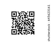 vector qr code sample for... | Shutterstock .eps vector #645623161