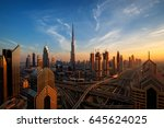 Amazing Dubai Skyline At Sunset