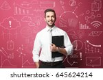 marketing concept. man... | Shutterstock . vector #645624214