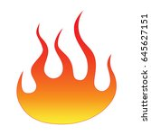 flame vector fire. colored... | Shutterstock .eps vector #645627151