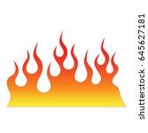 flame tattoo tribal vector... | Shutterstock .eps vector #645627181