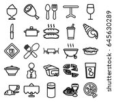 restaurant icons set. set of 25 ... | Shutterstock .eps vector #645630289