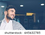 horizontal indoors shot of... | Shutterstock . vector #645632785