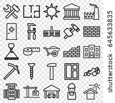 construction icons set. set of... | Shutterstock .eps vector #645633835