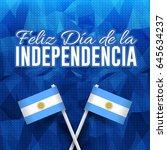 polygonal background  argentina ... | Shutterstock .eps vector #645634237