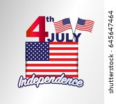 4th july american independence... | Shutterstock .eps vector #645647464