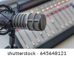 microphone in the radio studio | Shutterstock . vector #645648121