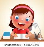 Girl Kid Vector Character Happ...