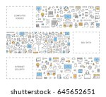 line concept for big data.... | Shutterstock . vector #645652651