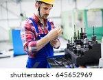 modern industrial machine... | Shutterstock . vector #645652969