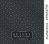 luxury seamless geometric... | Shutterstock .eps vector #645653755