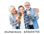 grandfather  grandmother and... | Shutterstock . vector #645654754
