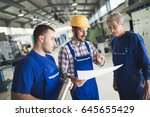 supplier with engineer checking ... | Shutterstock . vector #645655429