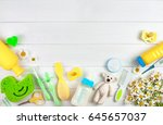 baby's accessories near... | Shutterstock . vector #645657037