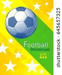 engraving soccer ball and... | Shutterstock .eps vector #645657325