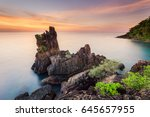 cape chai chet during sunset. a ... | Shutterstock . vector #645657955
