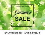 advertisement about the summer... | Shutterstock .eps vector #645659875