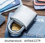 credit cards and simle...   Shutterstock . vector #645661279