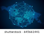 abstract technology concept.... | Shutterstock .eps vector #645661441