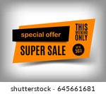 50  off sale banner design.... | Shutterstock .eps vector #645661681