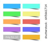 set of colorful vector sticky... | Shutterstock .eps vector #645661714