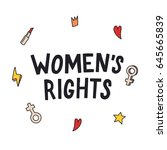women's rights. feminism quote  ... | Shutterstock .eps vector #645665839