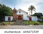 san antonio church   cali ... | Shutterstock . vector #645671539