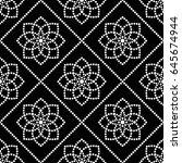 tiled seamless geometric... | Shutterstock .eps vector #645674944
