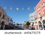 venice  united states   april 6 ... | Shutterstock . vector #645675175