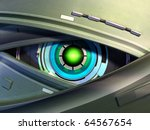 close up on a robotic eye.... | Shutterstock . vector #64567654