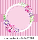 hand drawn banner with frame... | Shutterstock .eps vector #645677704