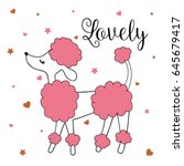 lovely vector illustration for... | Shutterstock .eps vector #645679417