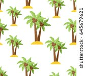 cute seamless pattern with a... | Shutterstock .eps vector #645679621