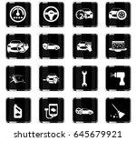 car shop vector icons for user... | Shutterstock .eps vector #645679921