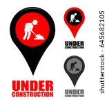 under construction icon | Shutterstock .eps vector #645682105