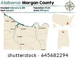 Large and detailed map of Morgan County in Alabama.