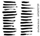 ink vector brush strokes set.... | Shutterstock .eps vector #645690739