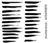 ink vector brush strokes set.... | Shutterstock .eps vector #645690895